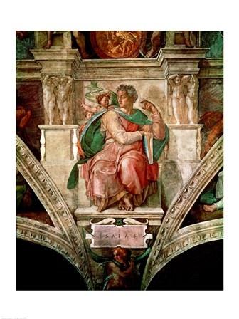 Sistine Chapel Ceiling: The Prophet Isaiah by Michelangelo Buonarroti art print