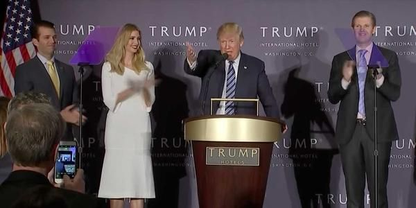 VIDEO: Donald Trump's speech at new Washington, D.C. hotelWASHINGTON - Donald Trump spoke Wednesday at his new hotel in Washington, D.C. Trump's theme was: UNDER BUDGET, AHEAD OFSCHEDULE. What do you think?Leave a comment if you hav...