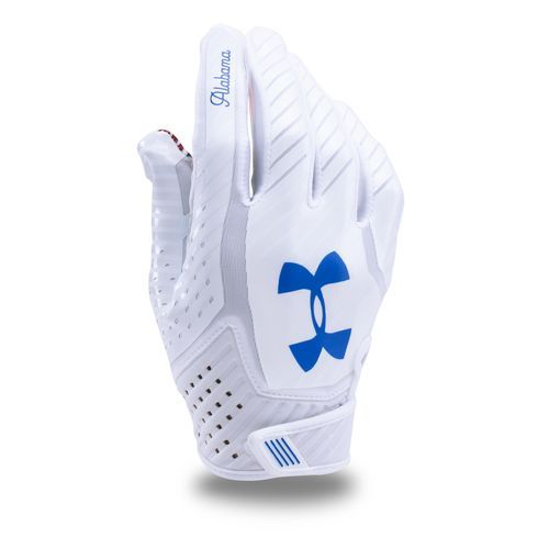 dd45034ab6a Under Armour Adults  Limited Edition Spotlight Football Gloves White Light  Blue - Football Equipment