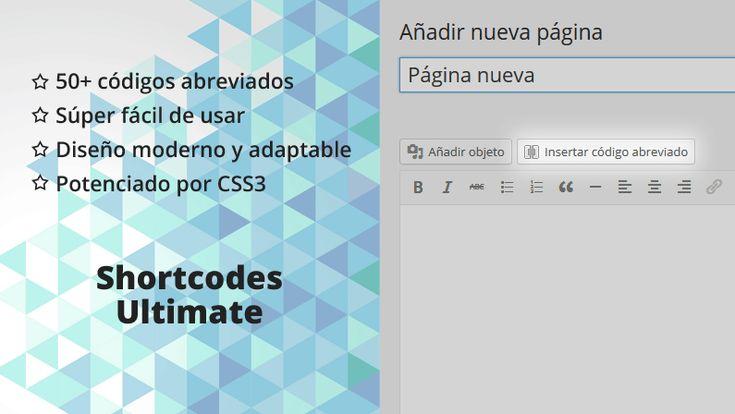 Plugin Shortcodes Ultimate traducido al español