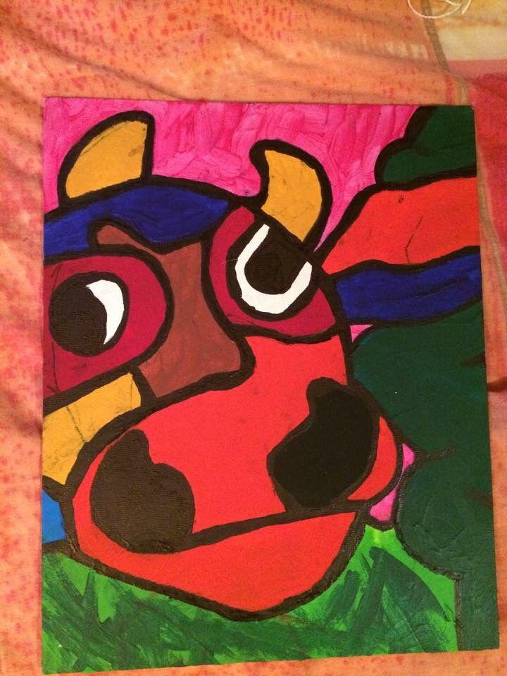 Schilderij met acryl