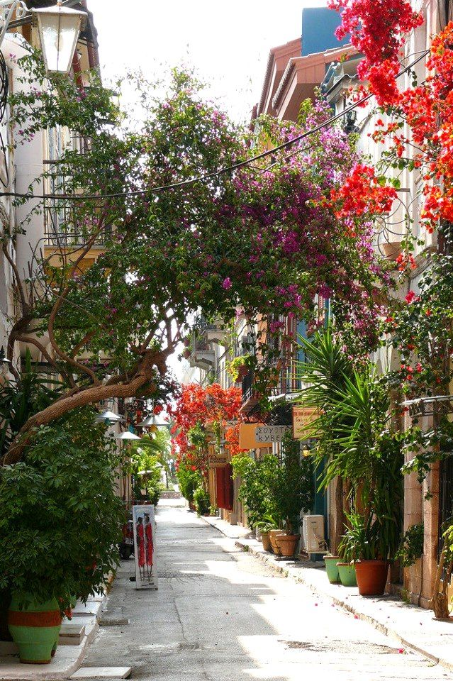 Side street in Nafplio, Greece