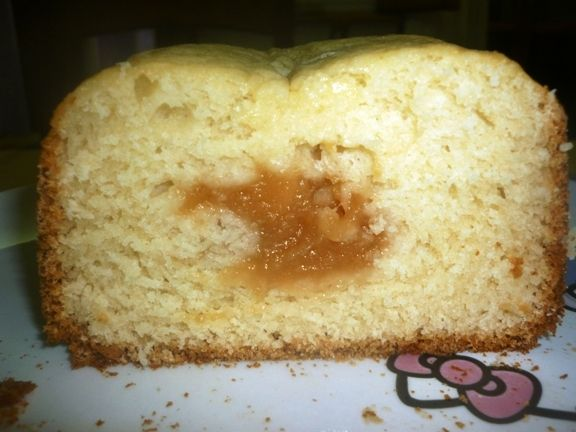 plumcake mdp con cuore di marmellata