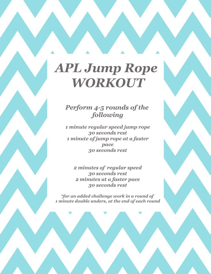 APL Jump Rope Workout: http://ashleypettitliving.com/2013/03/11/apl-workout-challenge-of-the-week-jump-rope/
