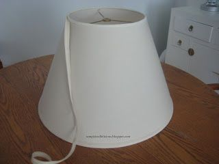 How to change your Bell Lamp Shade to a Drum Shade