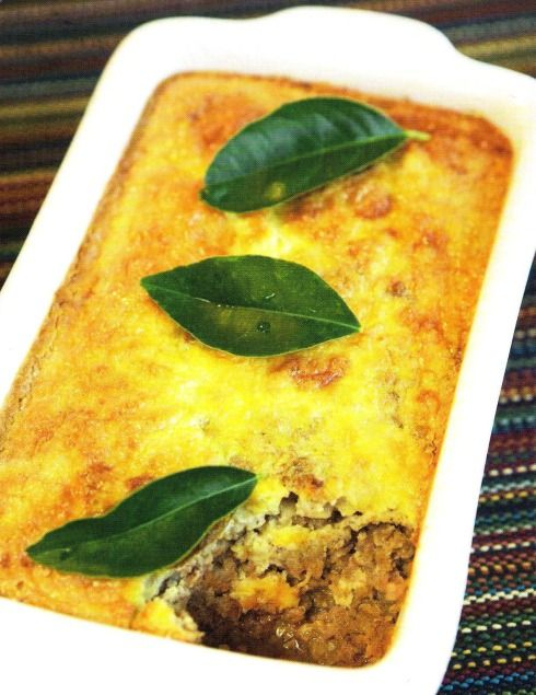 Bobotie is a traditional South African Dish. It's origin is unknown, although we know that the word originates from the Indonesian word bobotok of which a recipe appears in a 1609 Dutch recipe book. Initially the Cape Malay introduced it in South Africa,