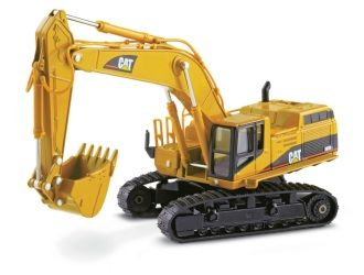 This CAT 365B L Series II Hydraulic Excavator Diecast Model Excavator is Yellow and features working tracks, boom, bucket, stick. It is made by Norscot and is 1:50 scale (approx. 24cm / 9.4in long).  ...