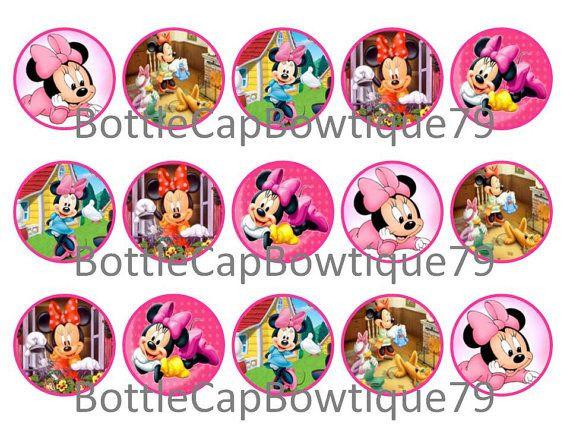 Bottle Cap Images - Disney Minnie- Minnie - Disney Minnie Bottle Cap Images - Minnie Bottle Cap Images - Caps $0.99