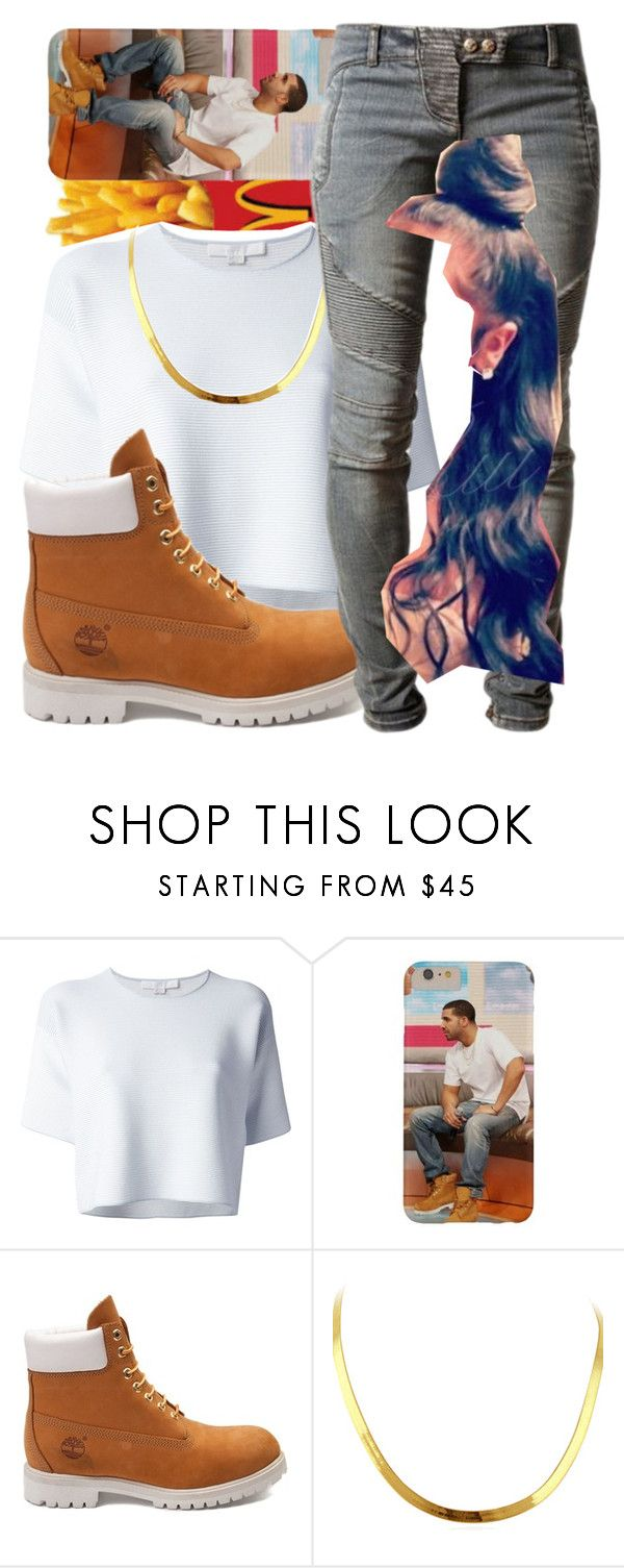 """Big Rings-Drake x Future"" by hxfsa ❤ liked on Polyvore featuring Alexander Wang, Timberland, Balmain, women's clothing, women, female, woman, misses and juniors"