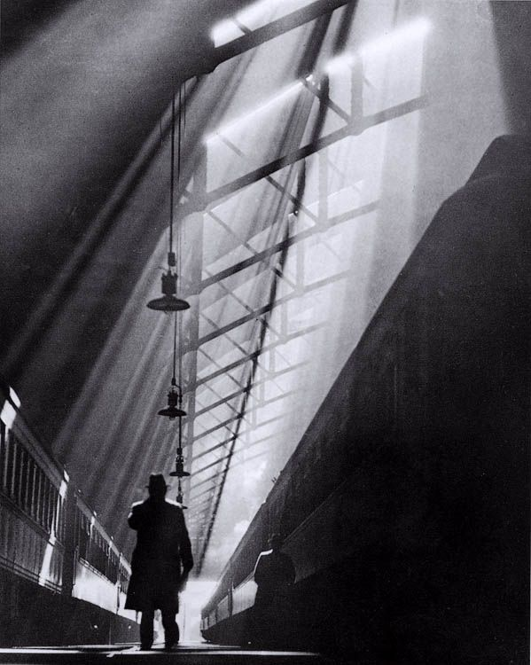 Light Rays on Trains, La Salle Street Station, Chicago   William M. Rittase, 1931   Gelatin Silver print