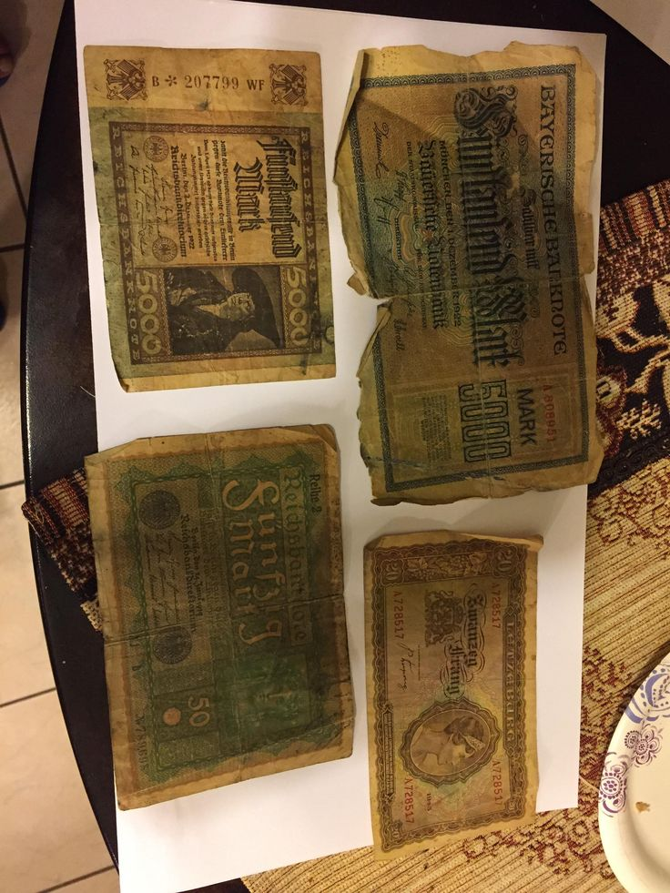 My dad found these old Germans currency bills. They were given to my grandpa my some Jewish people when the Allies liberated them back in WWII.