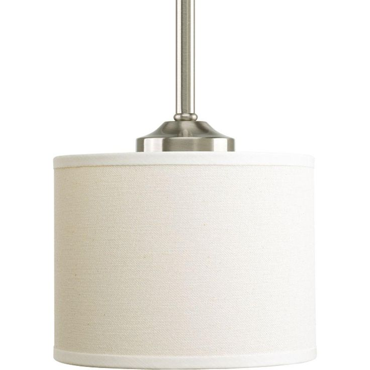 Progress Lighting Inspire Collection 1-Light Brushed Nickel Mini Pendant-P5065-09 - The Home Depot