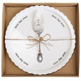 Mud Pie, Mudpie, Best Day Ever Cake Plate Set