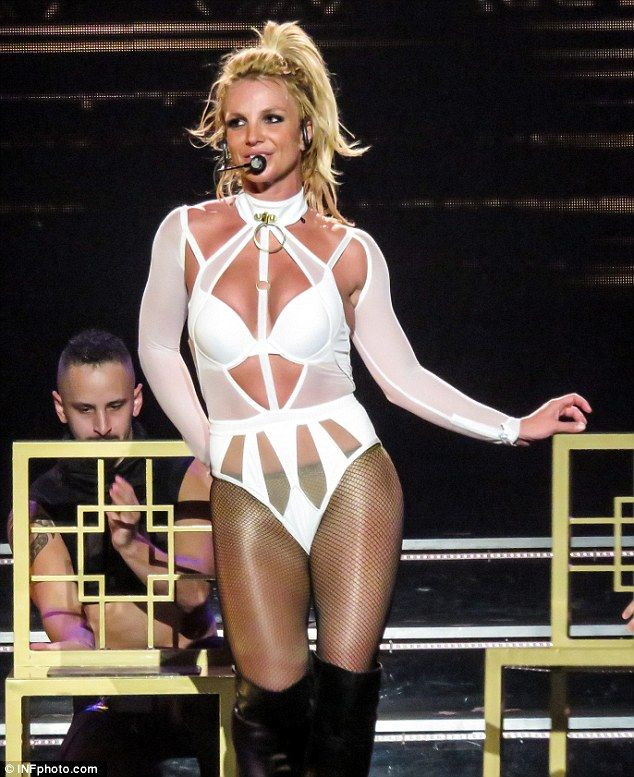 Back at it! Britney Spears flashed her enviable figure in tiny, new costumes as she returned to her wildly popular Las Vegas residency on Friday