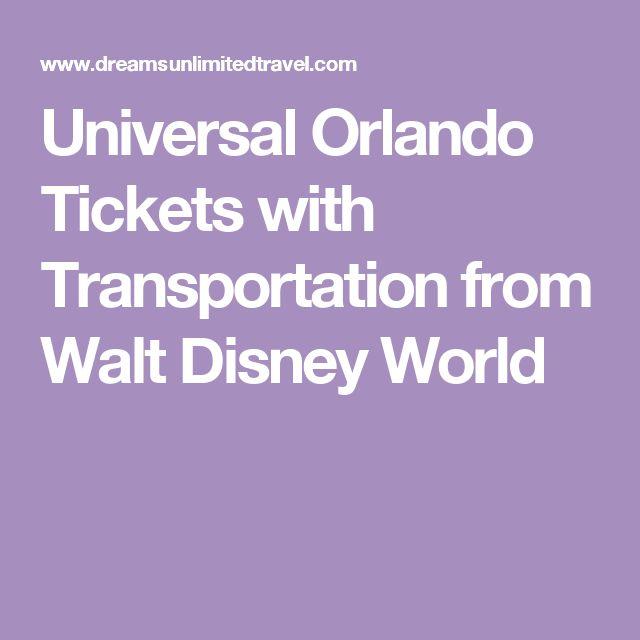 Universal Orlando Tickets with Transportation from Walt Disney World