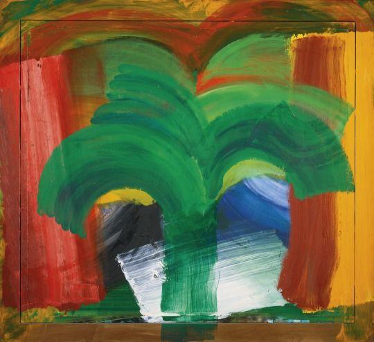 Howard Hodgkin (UK b. 1932) In Tangier (1987-1990) oil on wood 163.5 x 179 cm