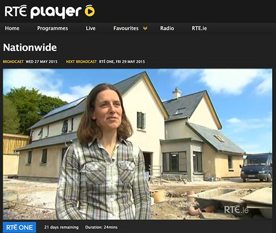 The Lime House guesthouse featured on RTE Nationwide - Ireland's largest straw bale building designed by Paul Mulhern MRIA, Hofler Architects. http://www.hoflerarchitects.com/architecture-blog-dublin/2015/5/27/irelands-largest-strawbale-building