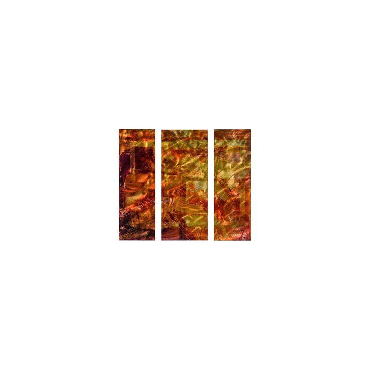 Tenacity Abstract Metal Wall Art, Orange/Red/Gold/Brown