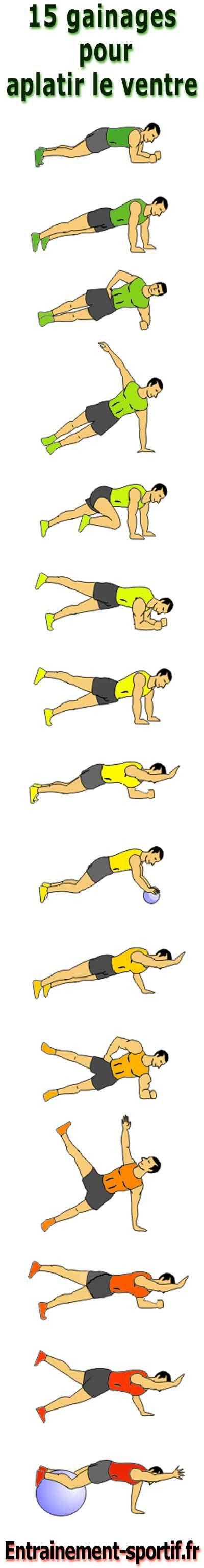 Programme de 15 exercices faciles à faire chez soi pour perdre du #ventre en gainant la ceinture abdominale