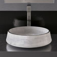 Sophies Bathroom ensuite basin in Grey glass