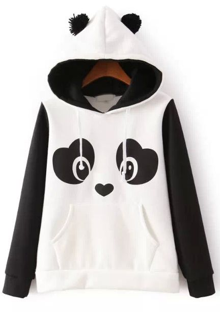 Shop White Hooded Long Sleeve Panda Print Sweatshirt online. Sheinside offers White Hooded Long Sleeve Panda Print Sweatshirt & more to fit your fashionable needs. Free Shipping Worldwide!