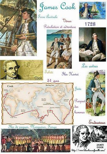 Les explorateurs, James Cook...