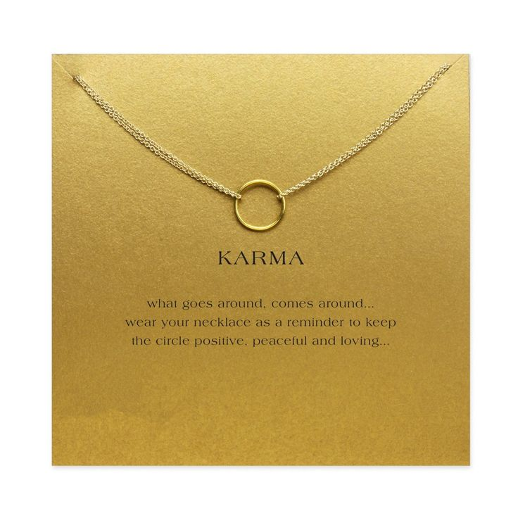 What goes around, comes around! ONLY $4.97 + FREE Worldwide SHIPPING :) - Material: Zinc Alloy - Unisex - Length: 40cm (adjustable) - Pendant Size: 0.8cm