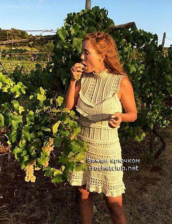 платье крючком grapes 3