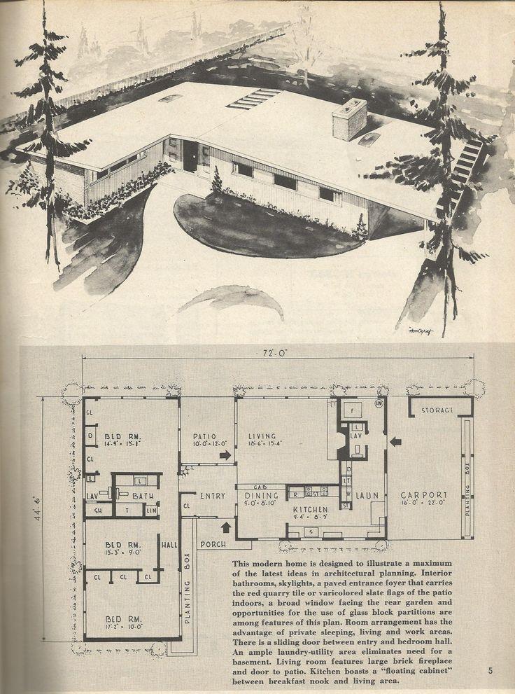 Best 25 1950s home ideas on pinterest for 1950s floor plans