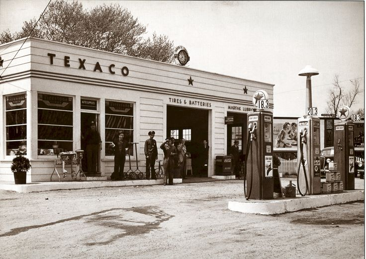 Texaco Station Taunton Mass 1940 Vintage Gas Service