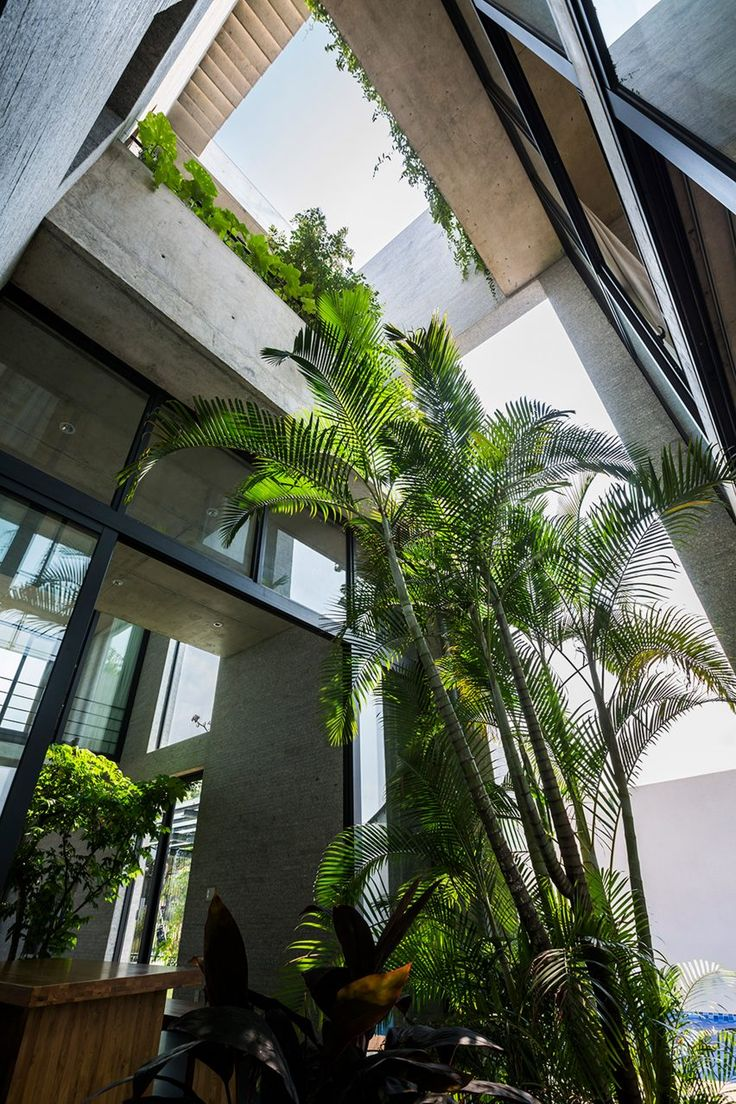 Galer 237 a de casa patio ar arquitetos 22 - Planted Terraces Are Interspersed Among Living Spaces At Vo Trong Nghia S Binh House