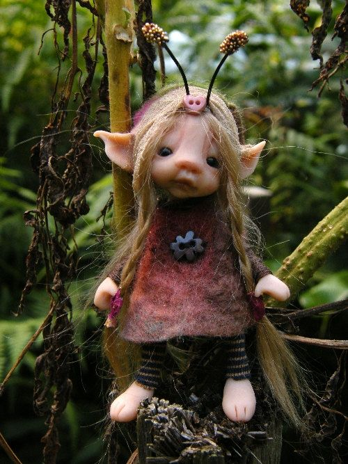 sweet posable tiny forest  bug fairy fairie by throughthemagicdoor