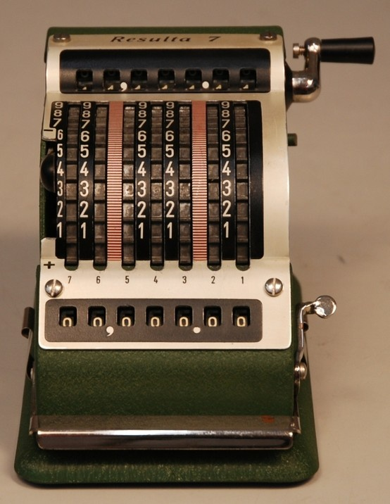 1945 Standard Resulta 7 Mechanical Calculator  #Math