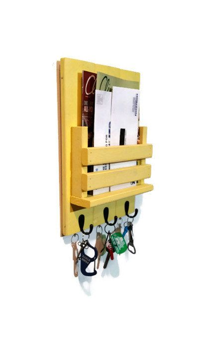Mail Holder  Mail Organizer  Mail Station  by RenewedDecorStorage