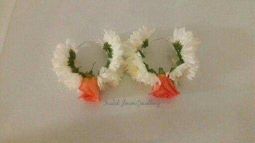 Fresh flower hoops by bridal flower jewellery www.bridalflowerjewellery.weebly.com