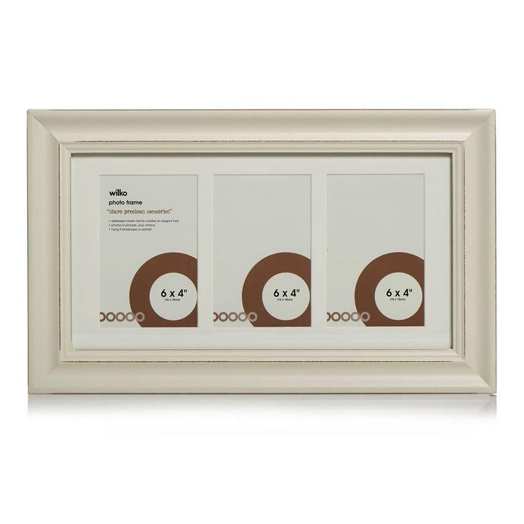 Wilko Frame Distressed Cream 3 Apperture