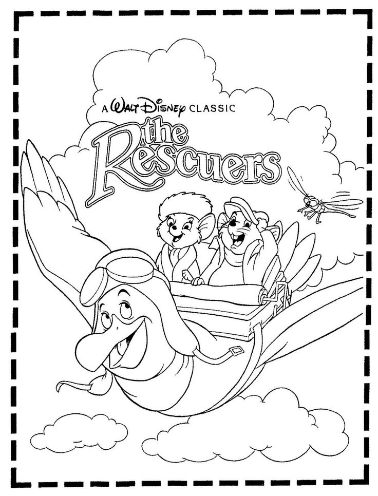 march a newspaper coloring contest for the return of the disney animated film the rescuers