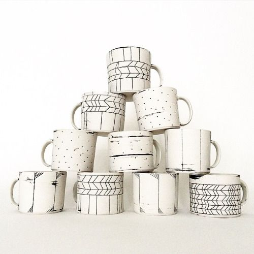 hopelessceramix:  Mugs going to @northernclaycenter #muglife #porcelain #ceramics