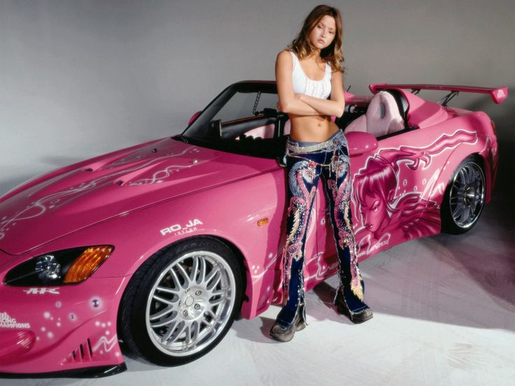 hot pink car from fast and the furious