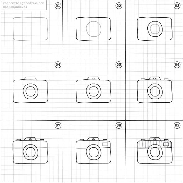 How to draw a camera? – #a K…
