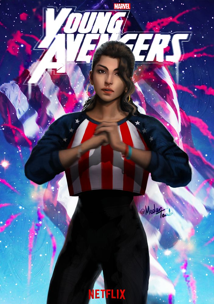 """""""There are new kids on the block"""" Young Avengers Netflix mini-series.. Miss America."""