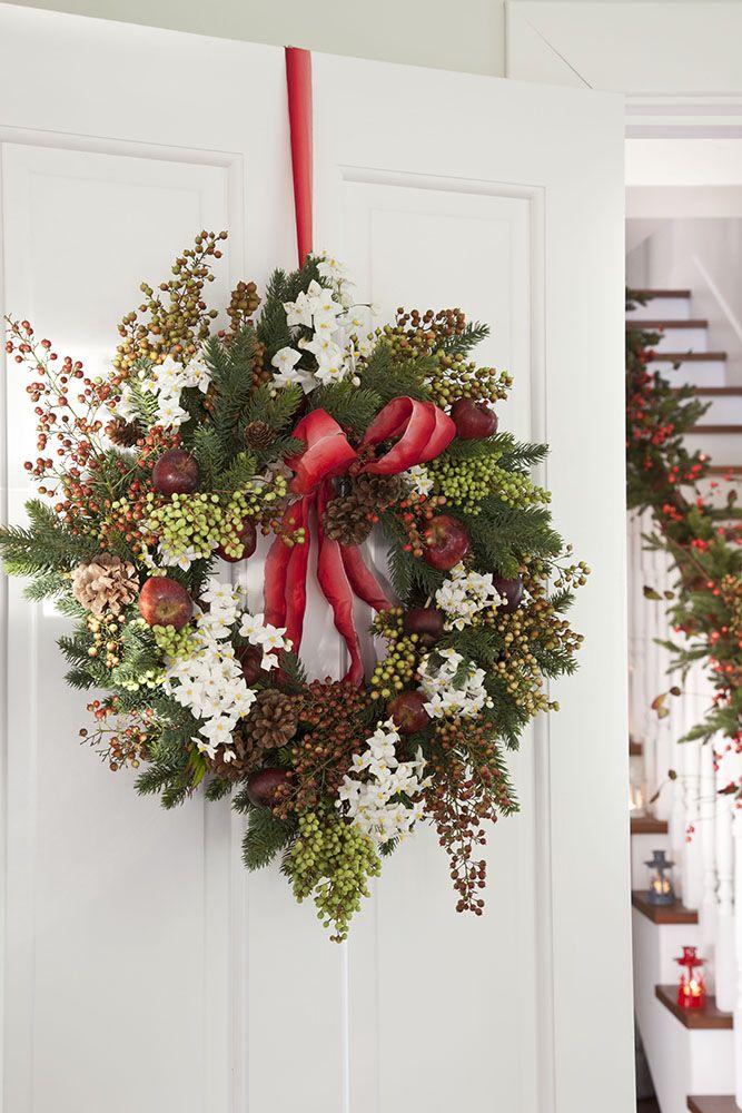 Guirnaldas y coronas: 15 manualidades de Navidad para decorar