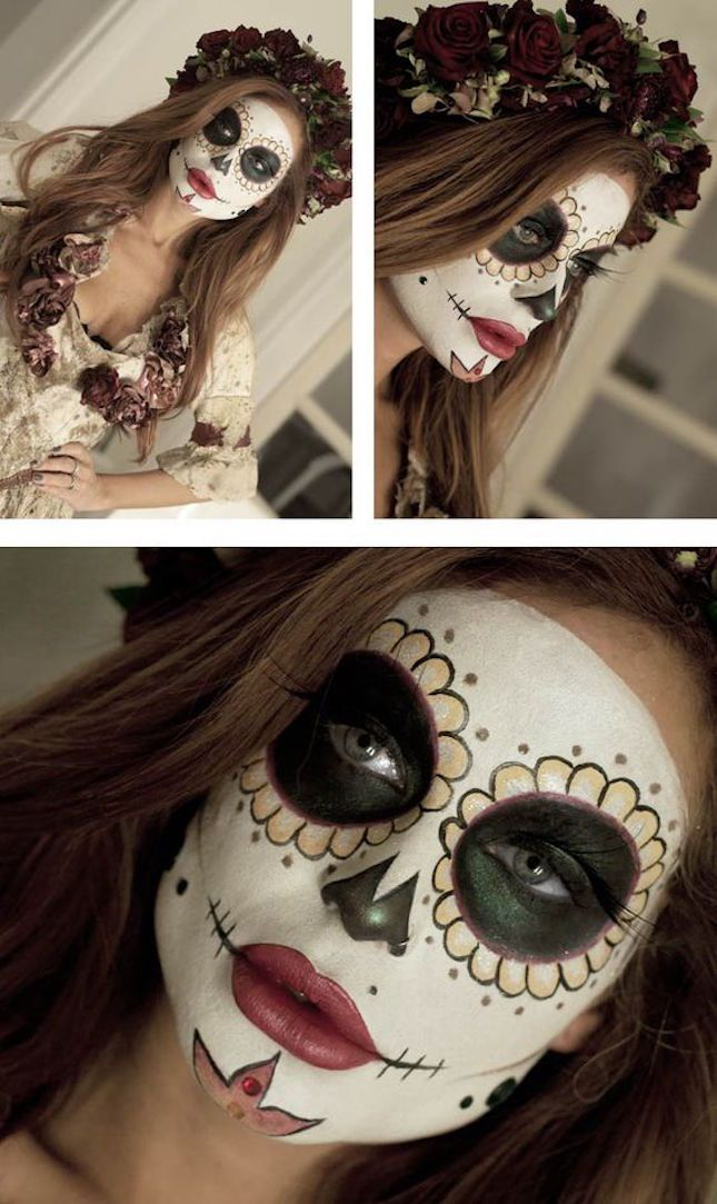 Leave everyone breathless with this DIY sugar skull Halloween makeup tutorial.