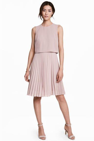 Плиссированное платье - Серо-лиловый - | H&M RU 1