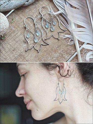 wire tulip earrings