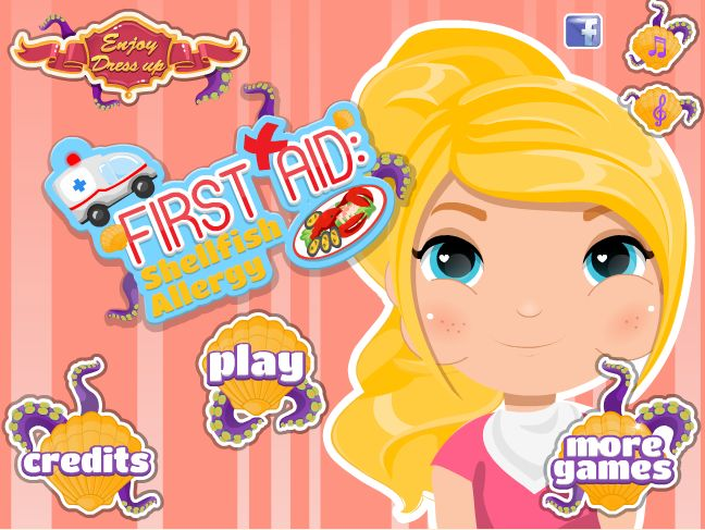 Play a great game! http://www.enjoydressup.com/first-aid-shellfish-allergy?ref=fatured_box