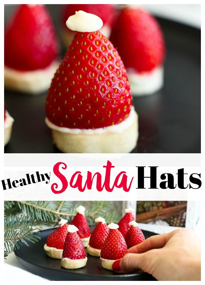 Strawberry Banana Santa Hats | Recipe | Bloggers\' Best Healthy ...
