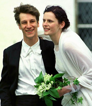 Stella Tennant with cool, Husband David Lasnet