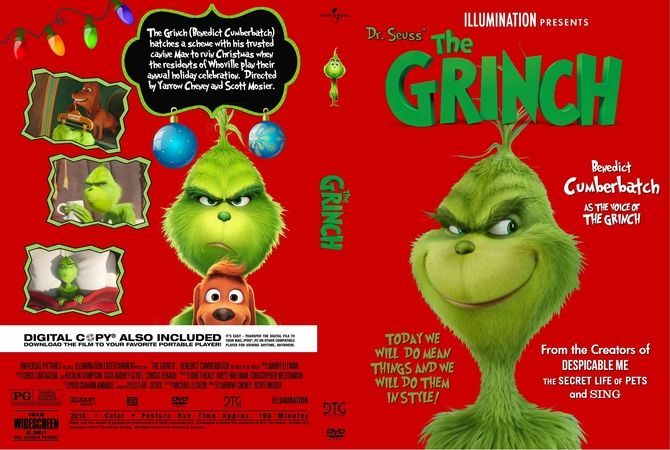 The Grinch 2018 Dvd Custom Cover Dvd Cover Design Grinch Mosier