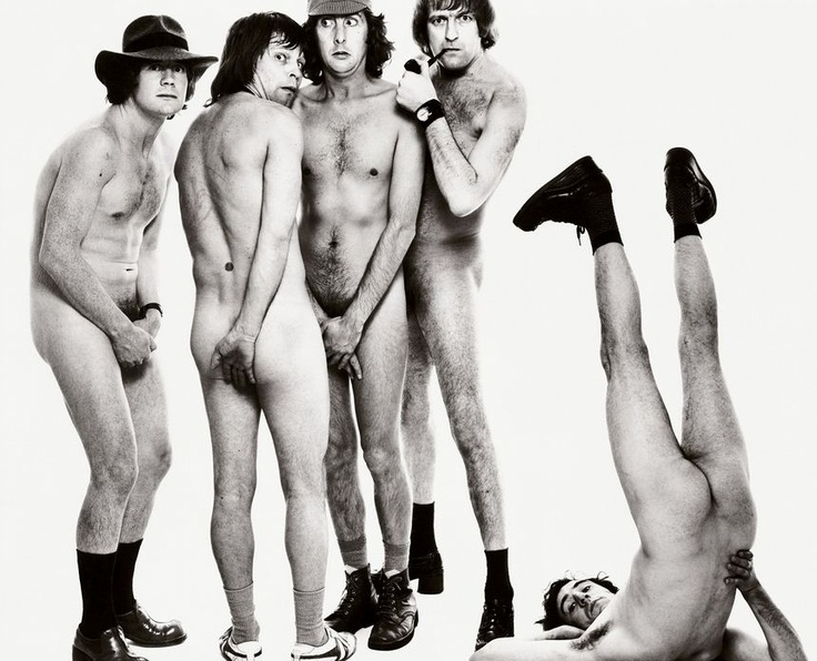 MONTY PYTHON'S FLYING CIRCUS-MICHAEL PALIN, Terry Gilliam, Eric Idle, Graham Chapman, AND TERRY JONES, NEW YORK, APRIL 25, 1975.  Photography by Richard Avedon